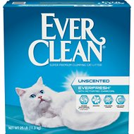 Ever Clean Everfresh with Activated Charcoal Unscented Premium Clumping Clay Cat Litter, 25-lb box