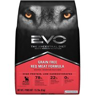 EVO Grain Free Red Meat Formula Large Bites Dry Dog Food, 13.2-lb bag