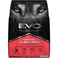 EVO Grain Free Red Meat Formula Large Bites Dry Dog Food, 28.6-lb bag