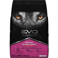 EVO Grain Free Red Meat Formula Small Bites Dry Dog Food, 6.6-lb bag