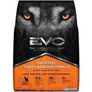 EVO Grain Free Turkey & Chicken Formula Large Bites Dry Dog Food, 28.6-lb bag