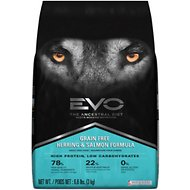 EVO Grain Free Herring & Salmon Formula Adult Dry Dog Food, 6.6-lb bag