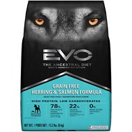 EVO Grain Free Herring & Salmon Formula Adult Dry Dog Food, 13.2-lb bag