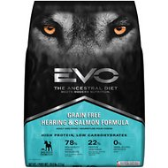 EVO Grain Free Herring & Salmon Formula Adult Dry Dog Food, 28.6-lb bag
