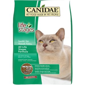 CANIDAE Life Stages All Life Stages Formula Dry Cat Food, 4-lb bag