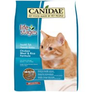 CANIDAE Life Stages Chicken Meal & Rice Formula Dry Cat Food, 15-lb bag