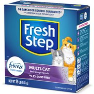 Fresh Step Multi-Cat Scoopable Clumping Cat Litter, 25-lb box