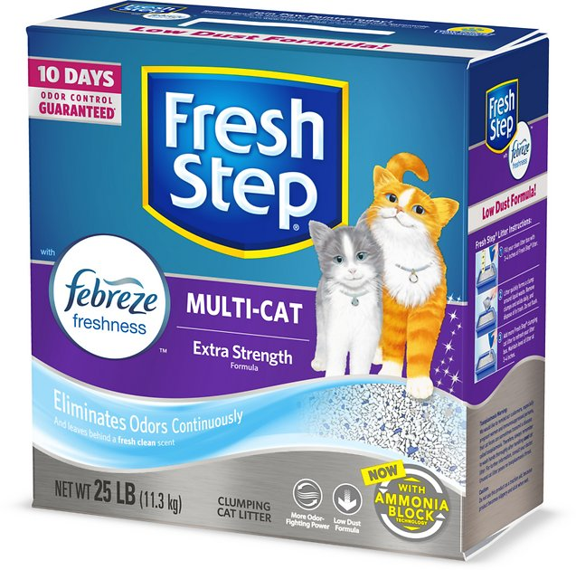 Fresh Step Multi-Cat Scoopable Clumping Cat Litter, 25-lb box - Chewy.com