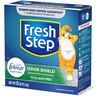 Fresh Step Odor Shield Clumping Cat Litter, 25-lb box