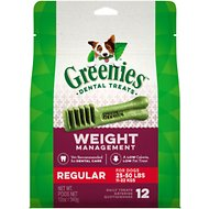 Greenies Weight Management Regular Dental Dog Treats, 12 count
