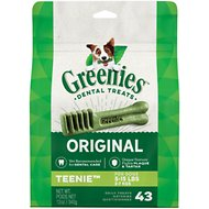 Greenies Teenie Dental Dog Treats, 43 count