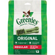 Greenies Regular Dental Dog Treats, 12 count