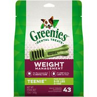 Greenies Weight Management Teenie Dental Dog Treats, 43 count