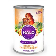 Halo Holistic Chicken Recipe Adult Canned Dog Food, 22-oz, case of 6