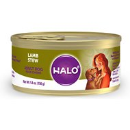 Halo Lamb Recipe Adult Canned Dog Food, 5.5-oz case of 12