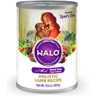 Halo Holistic Lamb Recipe Adult Canned Dog Food, 13.2-oz, case of 12