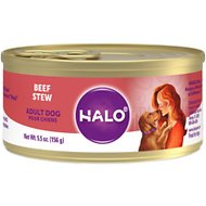Halo Beef Recipe Adult Canned Dog Food, 5.5-oz, case of 12