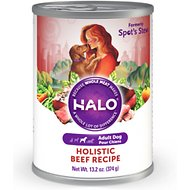 Halo Holistic Beef Recipe Adult Canned Dog Food, 13.2-oz, case of 12
