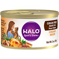 Halo Chicken Recipe Grain-Free Adult Canned Cat Food, 3-oz, case of 12