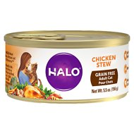 Halo Chicken Recipe Grain-Free Adult Canned Cat Food, 5.5-oz, case of 12
