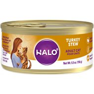 Halo Turkey Recipe Grain-Free Adult Canned Cat Food, 5.5-oz, case of 12