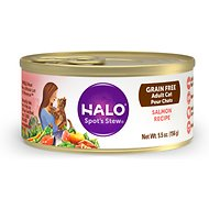 Halo Salmon Recipe Grain-Free Adult Canned Cat Food, 5.5-oz, case of 12