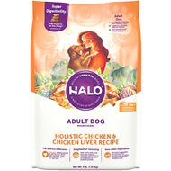 Halo Holistic Chicken & Chicken Liver Adult Dry Dog Food, 4-lb bag