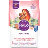Halo Holistic Wild Salmon & Whitefish Adult Dry Dog Food, 4-lb bag