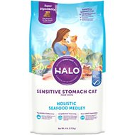 Halo Holistic Seafood Medley Sensitive Stomach Dry Cat Food, 6-lb bag