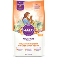 Halo Holistic Chicken & Chicken Liver Recipe Adult Dry Cat Food, 6-lb bag