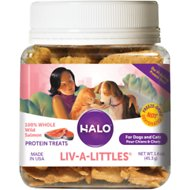 Halo Liv-a-Littles Grain-Free 100% Wild Salmon Freeze-Dried Dog & Cat Treats, 1.6-oz