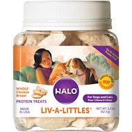 Halo Liv-a-Littles Grain-Free 100% Chicken Breast Freeze-Dried Dog & Cat Treats, 2.2-oz