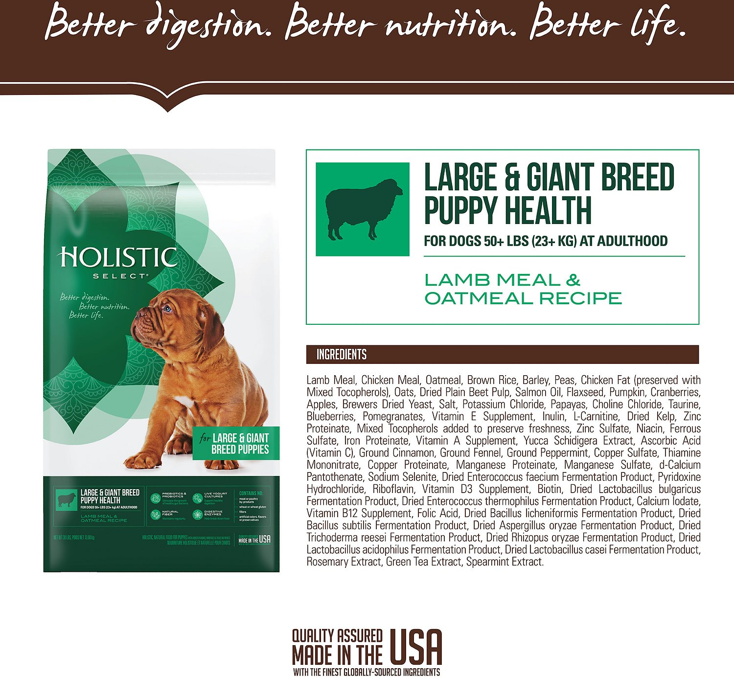Holistic Select Large Giant Breed Puppy Dry Food Reviews