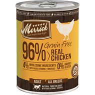 Merrick Grain-Free 96% Real Chicken Canned Dog Food, 13.2-oz, case of 12
