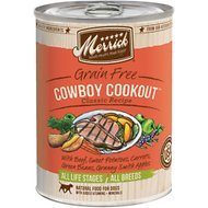 Merrick Classic Grain-Free Cowboy Cookout Recipe Canned Dog Food, 13.2-oz, case of 12