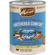 Merrick Grain-Free Smothered Comfort Canned Dog Food, 13.2-oz, case of 12