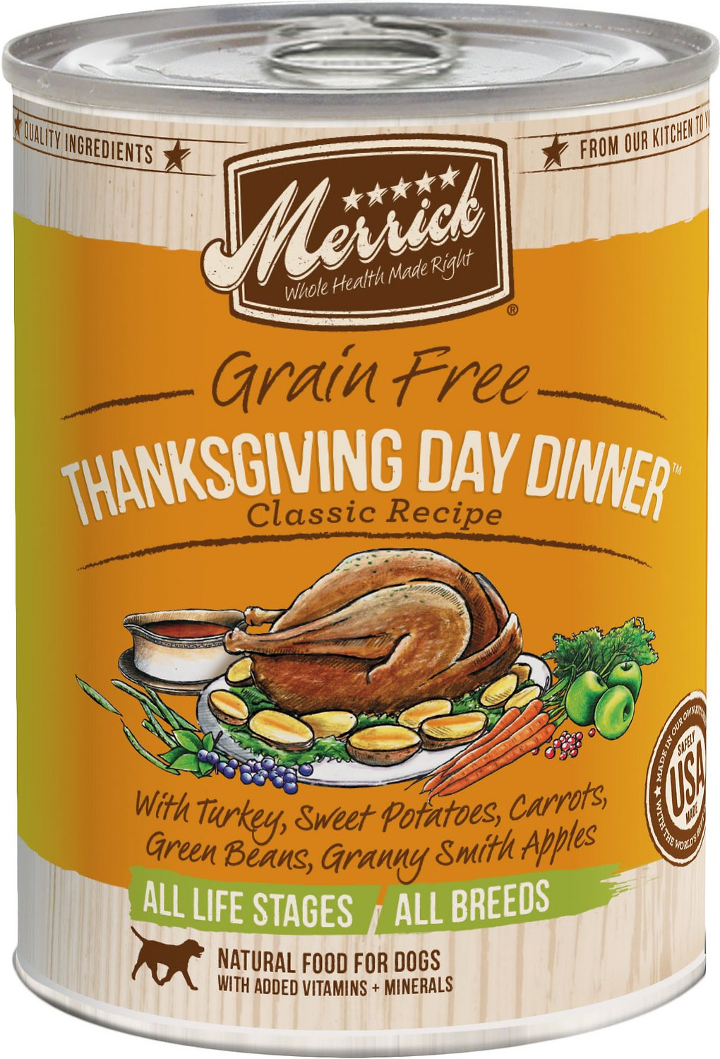 Merrick classic grain free thanksgiving day dinner recipe canned video forumfinder Choice Image
