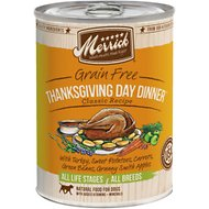 Merrick Classic Grain-Free Thanksgiving Day Dinner Recipe Canned Dog Food, 13.2-oz, case of 12