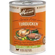 Merrick Grain-Free Turducken Recipe Canned Dog Food, 13.2-oz, case of 12
