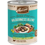 Merrick Grain-Free Wilderness Blend Canned Dog Food, 13.2-oz, case of 12