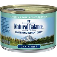 Natural Balance L.I.D. Limited Ingredient Diets Chicken & Sweet Potato Formula Grain-Free Canned Dog Food, 6-oz, case of 12