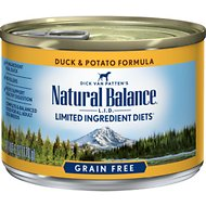 Natural Balance L.I.D. Limited Ingredient Diets Duck & Potato Formula Grain-Free Canned Dog Food, 6-oz, case of 12