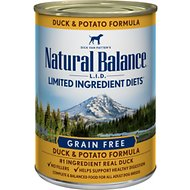 Natural Balance L.I.D. Limited Ingredient Diets Duck & Potato Formula Grain-Free Canned Dog Food, 13.2-oz, case of 12