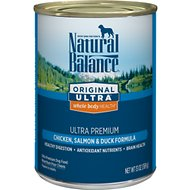 Natural Balance Original Ultra Premium Whole Body Health Chicken, Salmon & Duck Formula Canned Dog Food, 13-oz, case of 12
