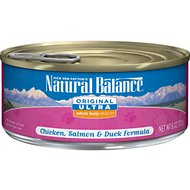 Natural Balance Original Ultra Whole Body Health Chicken, Salmon & Duck Formula Canned Cat Food, 6-oz, case of 24