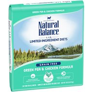 Natural Balance L.I.D. Limited Ingredient Diets Green Pea & Chicken Formula Grain-Free Dry Cat Food, 10-lb bag