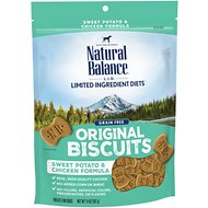 Natural Balance L.I.T. Limited Ingredient Treats Sweet Potato & Chicken Formula Dog Treats, Regular, 14-oz bag