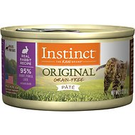 Instinct by Nature's Variety Original Grain-Free Real Rabbit Recipe Natural Wet Canned Cat Food, 3-oz, case of 24