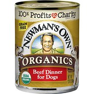 Newman's Own Organics Grain-Free Beef Canned Dog Food, 12-oz, case of 12