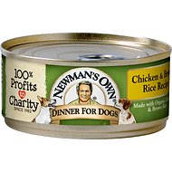 Newman's Own Organics Chicken & Brown Rice Formula Canned Dog Food, 5.5-oz, case of 24
